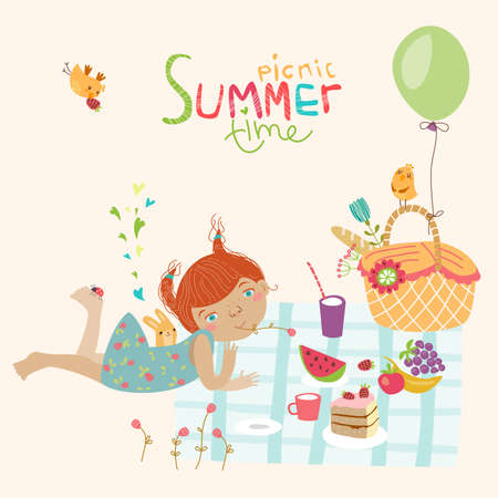 Cute summer illustration Vector