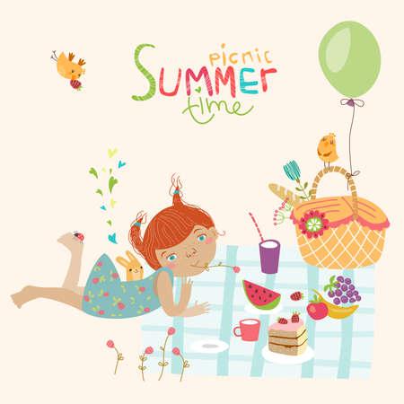 Cute summer illustration
