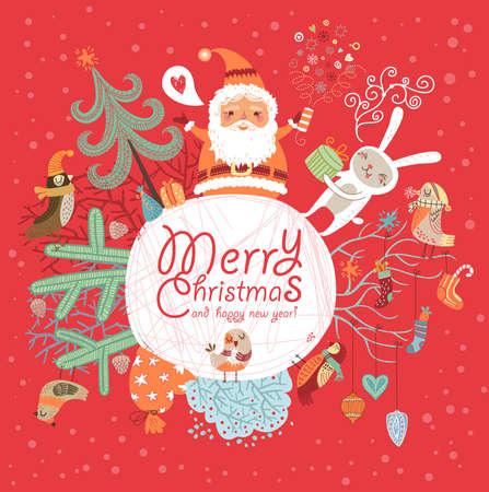 toy sack: Christmas card