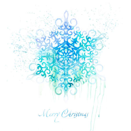 christmas watercolor: Christmas watercolor background