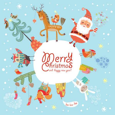 toy sack: Merry Christmas   Illustration