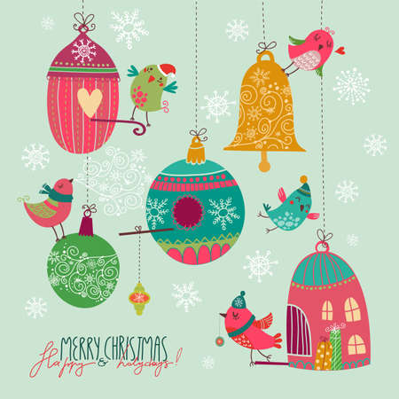 christmass: Christmass tarjeta linda Vectores