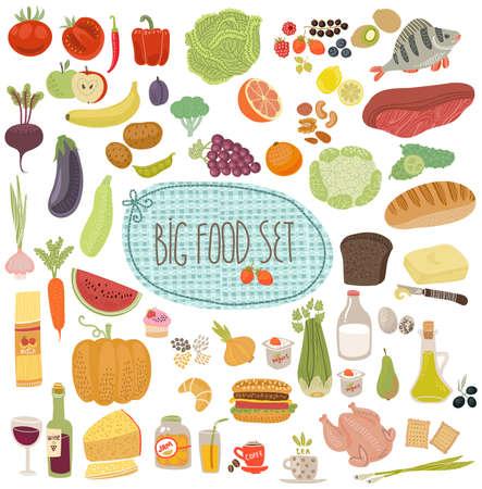 Lebensmittel-set Standard-Bild - 32772296
