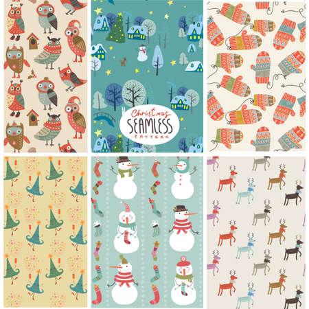 Christmass pattern set Vector