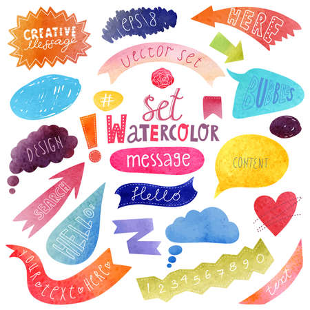 watercolor technique: Watercolor bubbles vector Illustration
