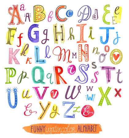 abc vector letters van het alfabet Stock Illustratie