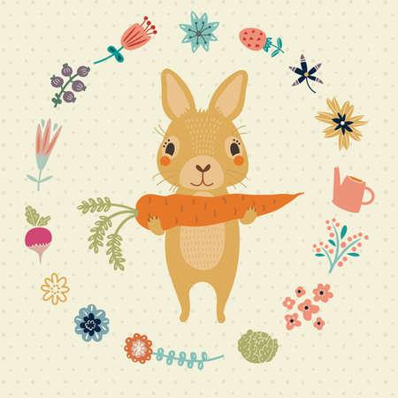 Niedlichen Kaninchen Standard-Bild - 37478579
