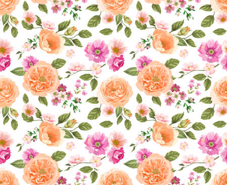 sateen: Seamless pattern with rose
