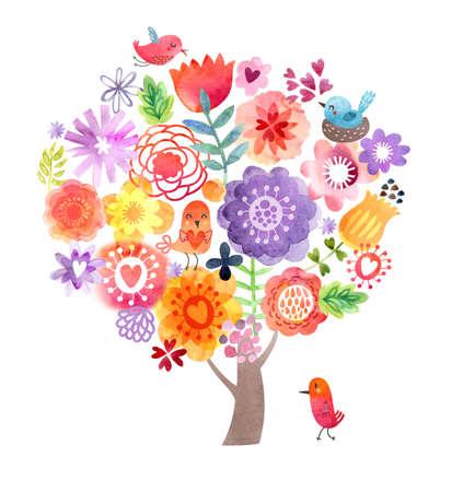 Cute Watercolor Background Stok Fotoğraf - 40560308