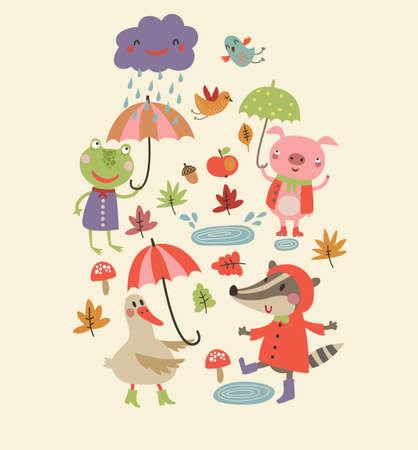 cute background Illusztráció