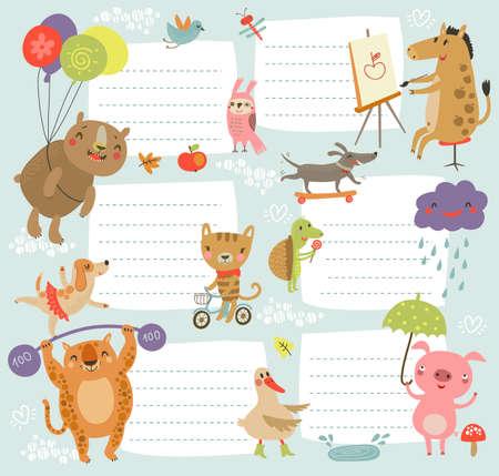 lindo: Fondo Cute kids Vectores