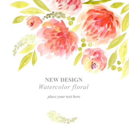 Watercolor flowers. Stock fotó - 47111125
