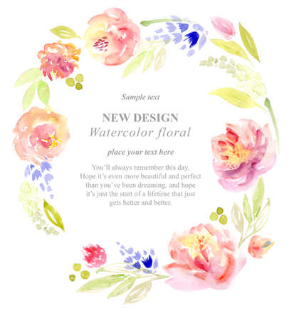 transparently: watercolor flowers