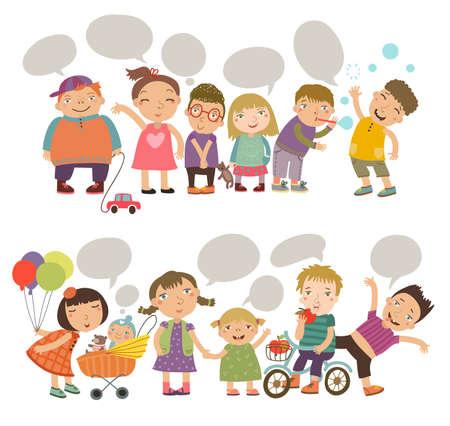 niños riendose: Set Niños