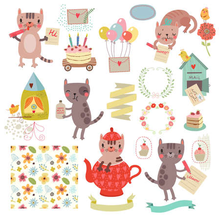 Characters set. cats collections Stock Vector - 72176246