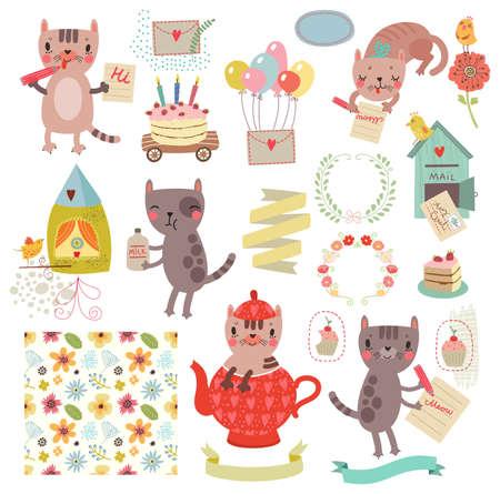 Tekens instellen. katten collecties