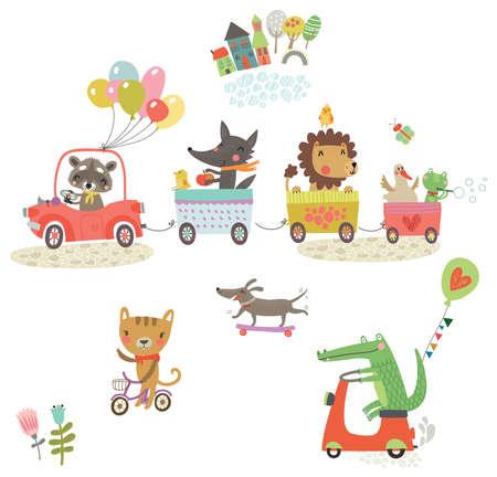 grappig dieren Stock Illustratie