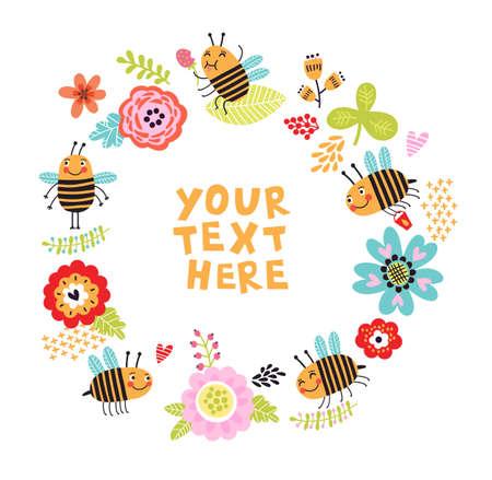 bee background Stock Vector - 77782219