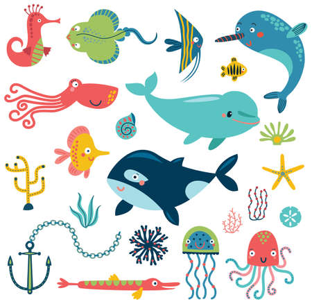 Cute sealife cartoon