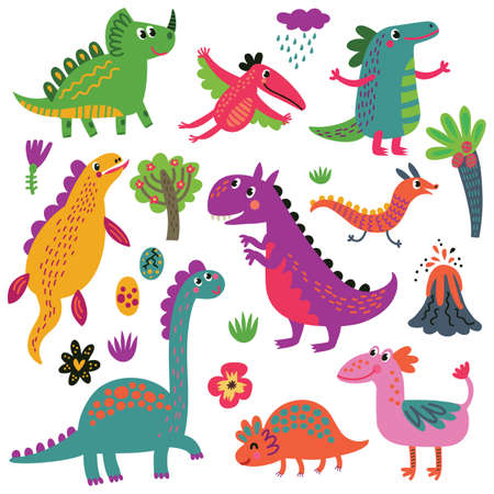Dinosaurs set Illustration