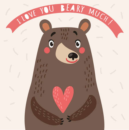 Bear. vector card lovly bear