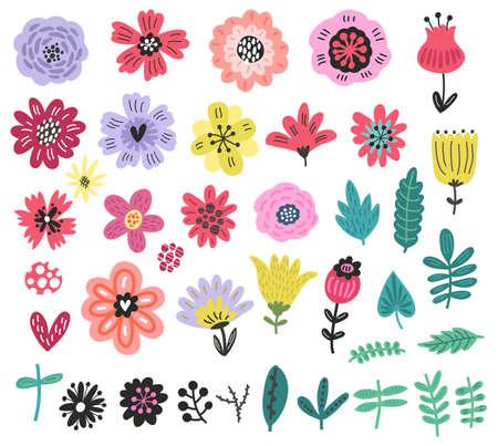 Floral set illustration.