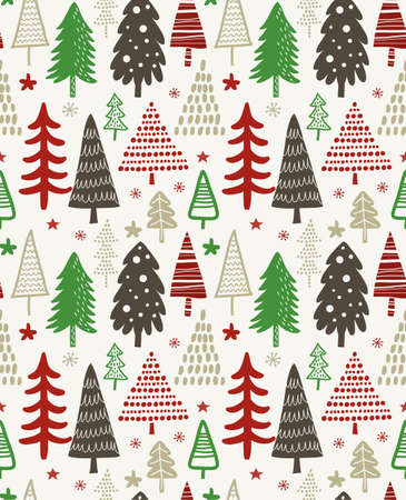 Christmas tree pattern design.
