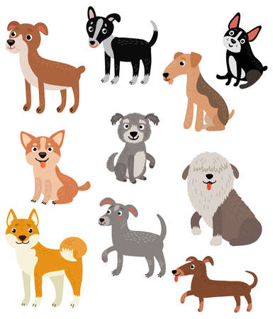 Dogs set Ilustração