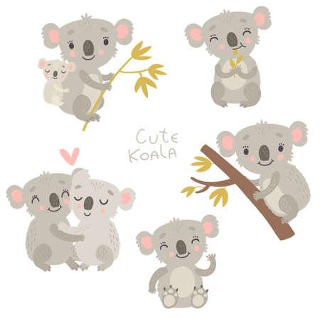 Koala vector set