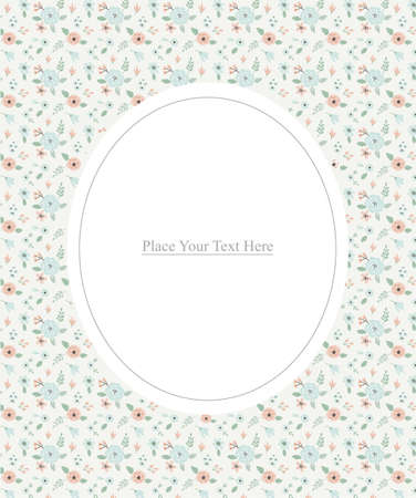 Floral background pattern vector illustration design. Illusztráció
