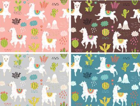 Seamless pattern with lama Foto de archivo - 104187696