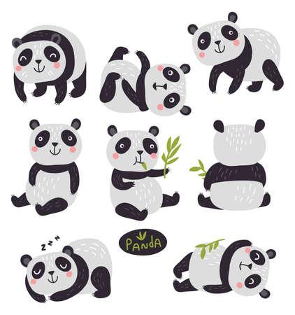 pandas  イラスト・ベクター素材