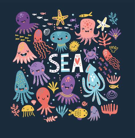 Leuke octopus poster