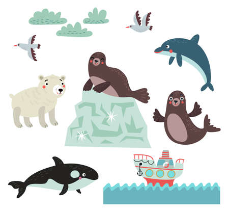 Northern animals vector Illustration