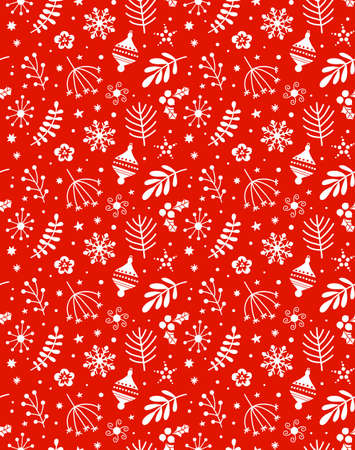 Christmas seamless pattern Çizim