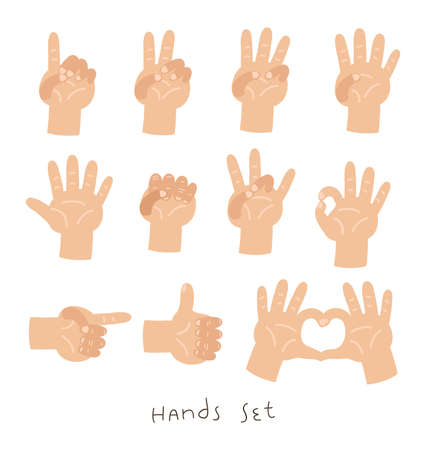 Hands set Çizim