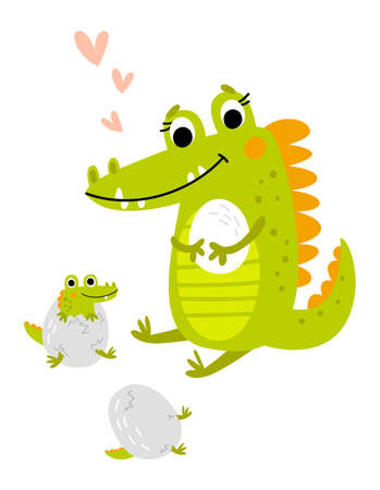 Crocodile. Vecton illustration. Ilustracja