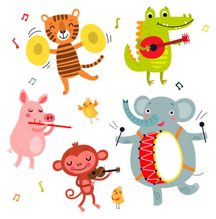 Music Orchestra. Illustration.
