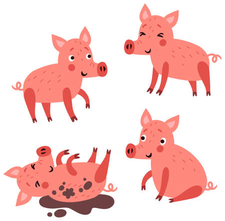 Pig characters set
