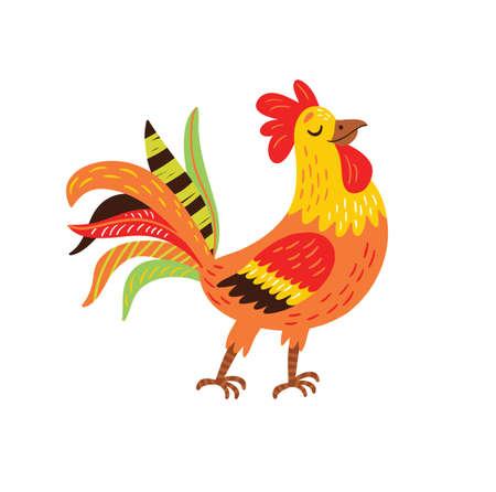 Rooster  illustration. Farm bird