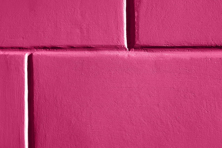 Close up image of pink brick wall. Color of Spring and Summer 2019.