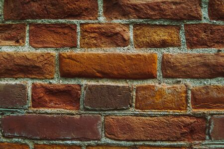 Close up image of old brick wall. Background. Imagens