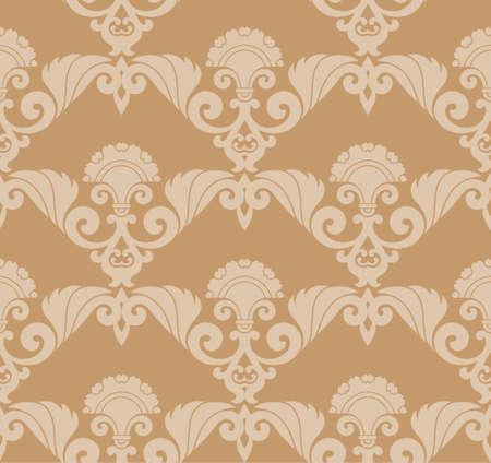 Seamless Retro Wallpaper Vector