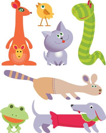 boa: Seven Toys icon set Illustration