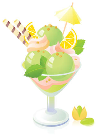 sorbet: Pistachio Ice Cream