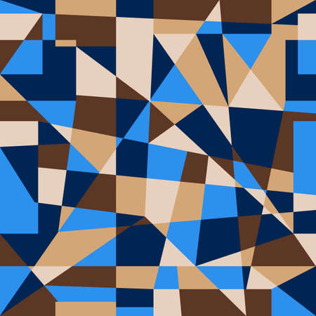 Geometric abstract seamless pattern in trend colors