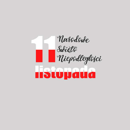 celebrate: Poland independence day greeting card.