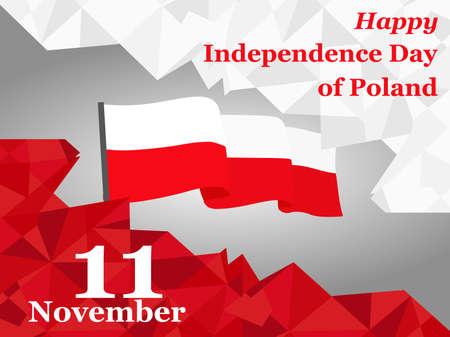 celebrate: 11 november. Poland Independence Day greeting card. Celebration background. Vector illustration. Illustration