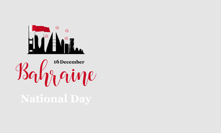 Greeting card Bahrain national day. December 16. graphic design for decoration festive posters, cards, gift cards. Illustration