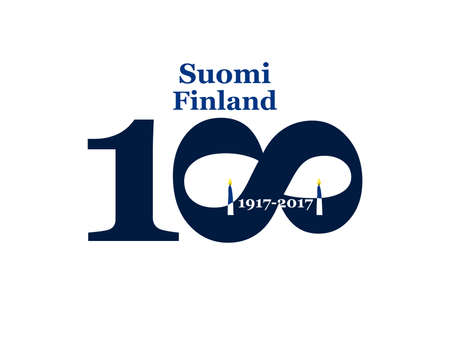 Greeting Card 100 anniversary of the independence of Finland. December 6th 일러스트
